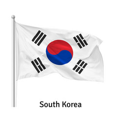 flag republic korea vector image
