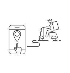 food delivery service online vector image