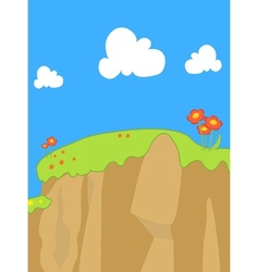 Forest and flower lanscape vector
