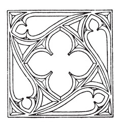 Gothic tracery gothic architecture vintage vector