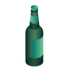 green beer bottle icon isometric style vector image