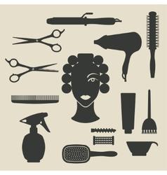 Hairdresser icons set vector