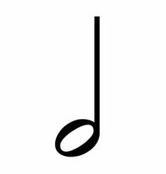 Half music note icon vector