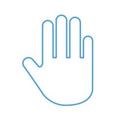 hand human stop icon vector image