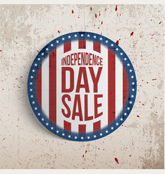 Independence day sale sticker or circle gift card vector