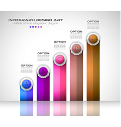 Infograph template with multiple choices and a vector