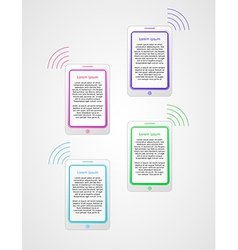 infographics with phones vector image