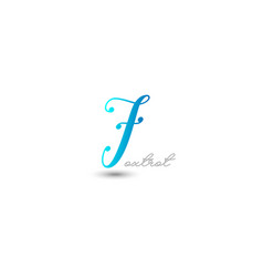 initial letter f graphic design vector image