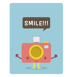 kawaii camera vector image