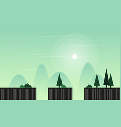 Landscape for game background vector