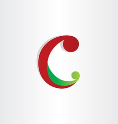 Letter c icon abstract design element vector