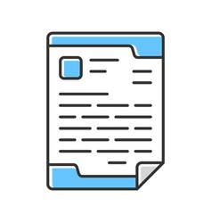 Letterhead official document color icon business vector