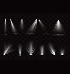 light beams from spotlights and floor projectors vector image