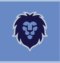 Lion head modern logo template vector