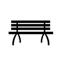 lonely brench furniture wooden image vector image