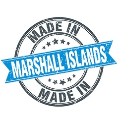 Made in Marshall Islands blue round vintage stamp vector