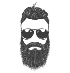 Man in sunglasses vector