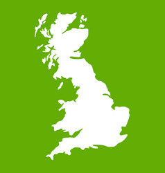 map of great britain icon green vector image