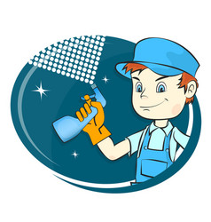 master cleaning and washing vector image