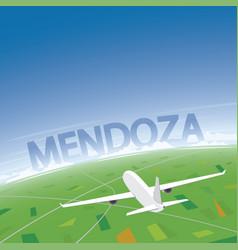 mendoza flight destination vector image