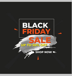 Modern black friday sale splash banner vector