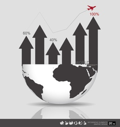 Modern design graph Business graph to success vector image