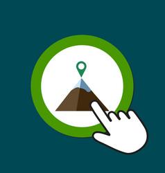 Mountain icon mountaineering alpinism concept vector