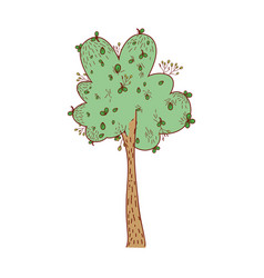 Nature tree with leaves and ecology stalk vector