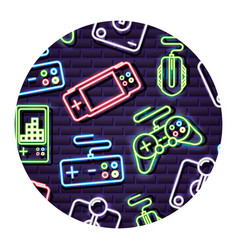 neon video game vector image