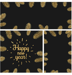 New year backgrounds with fir branches vector