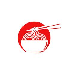 noodles food sign symbol vector image