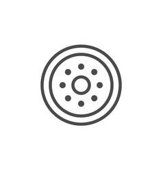 optical fiber line outline icon vector image