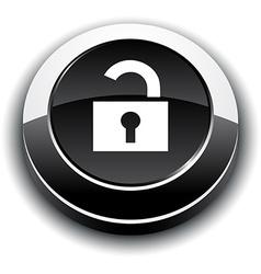 Padlock 3d round button vector