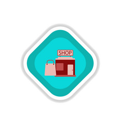 paper sticker on white background shop package vector image vector image