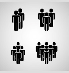 People group icons vector