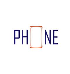 Phone symbol and logo vector