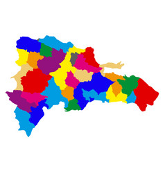 political map of dominican republic vector image