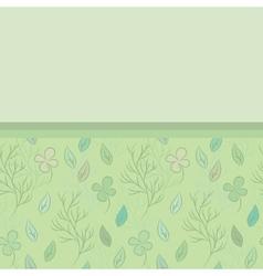 Postcard on leaves theme vector image