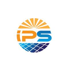 powers cell solar energy logo designs vector image