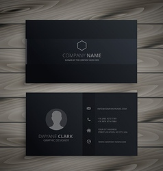 Pure black dark business card vector