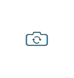rotate camera icon design photography and video vector image