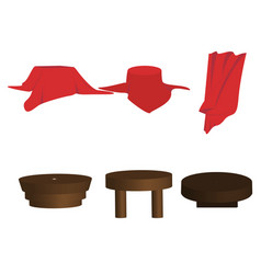 set for red vector image