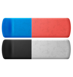 set of eraser on white background vector image
