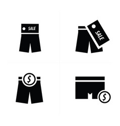 shorts icon design vector image