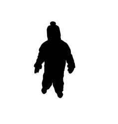 silhouette of a child in a cap vector image