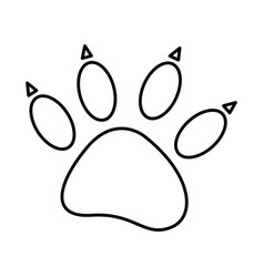 sketch silhouette dog footprint icon vector image