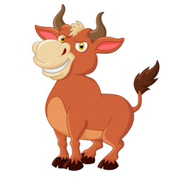 Smiling bull mascot isolated on white background vector