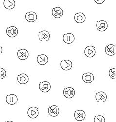 Sound multimedia seamless pattern vector