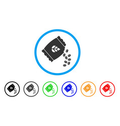 Sow seed pack rounded icon vector