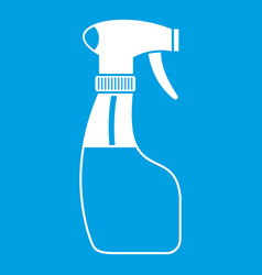 Spray icon white vector